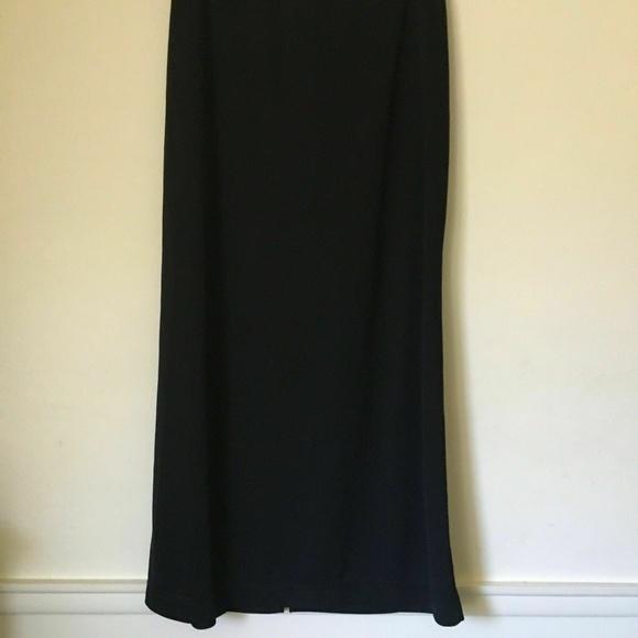 Paul Harris Design Dresses & Skirts - Paul Harris Long Black SMALL SKIRT with slit.